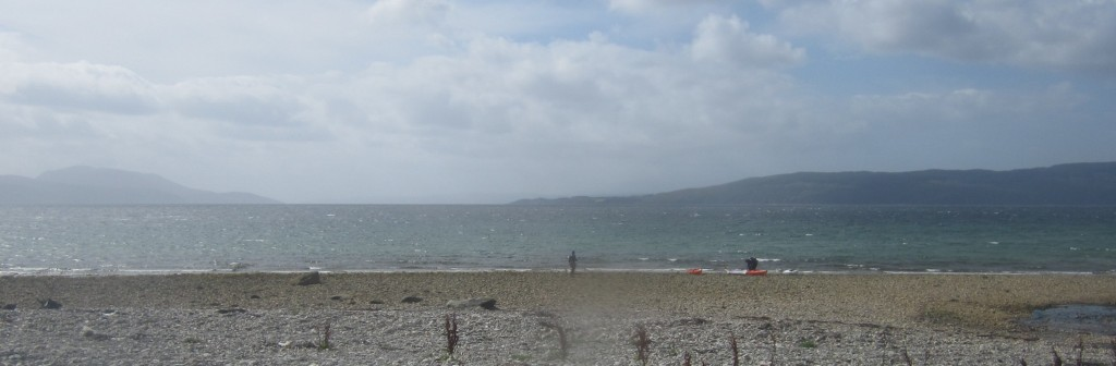 The view from Ardlamont beach (note the white horses)