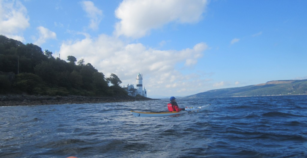 Heading south by Cloch lighthouse