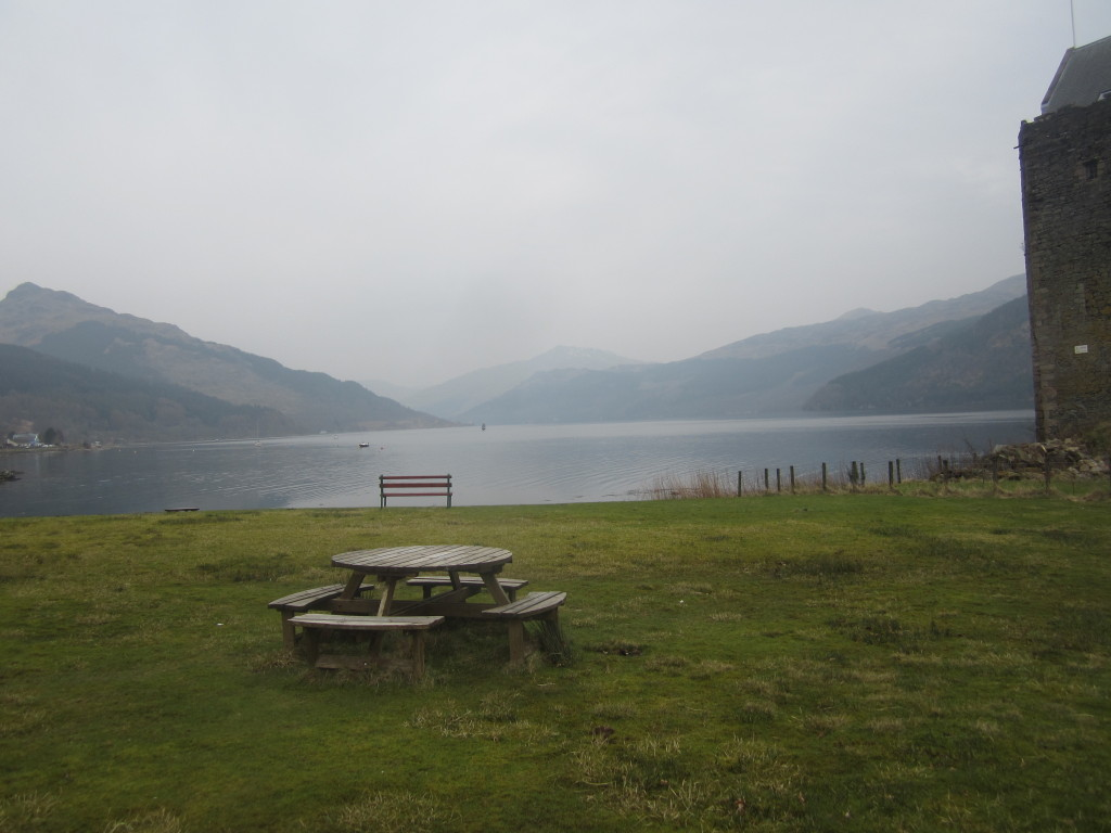 Looking up Loch Goil from the picnic spot at Carrick Castle