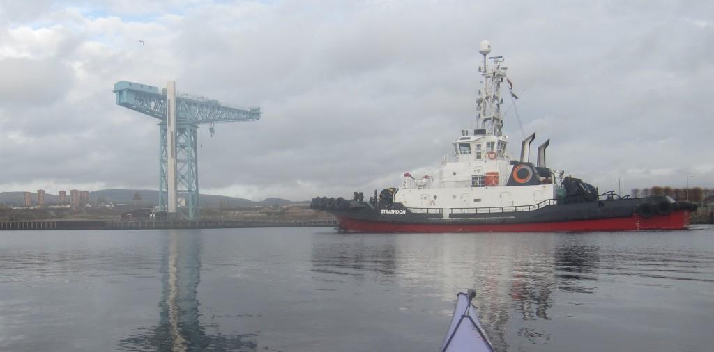Totan Crane and MV Strathdon