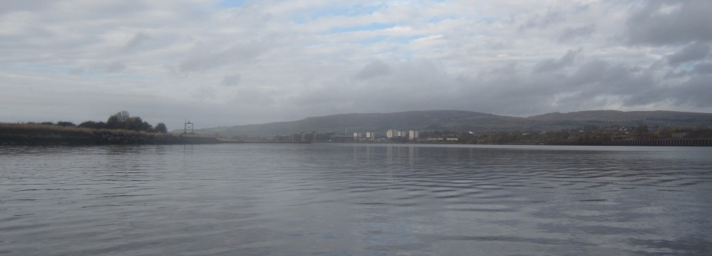 THe River CLyde looking downriver from Clydebank