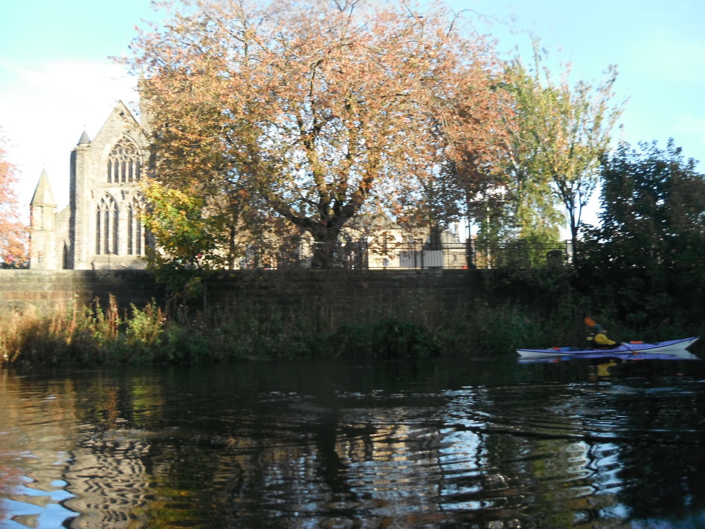 Paisley Abbey from river